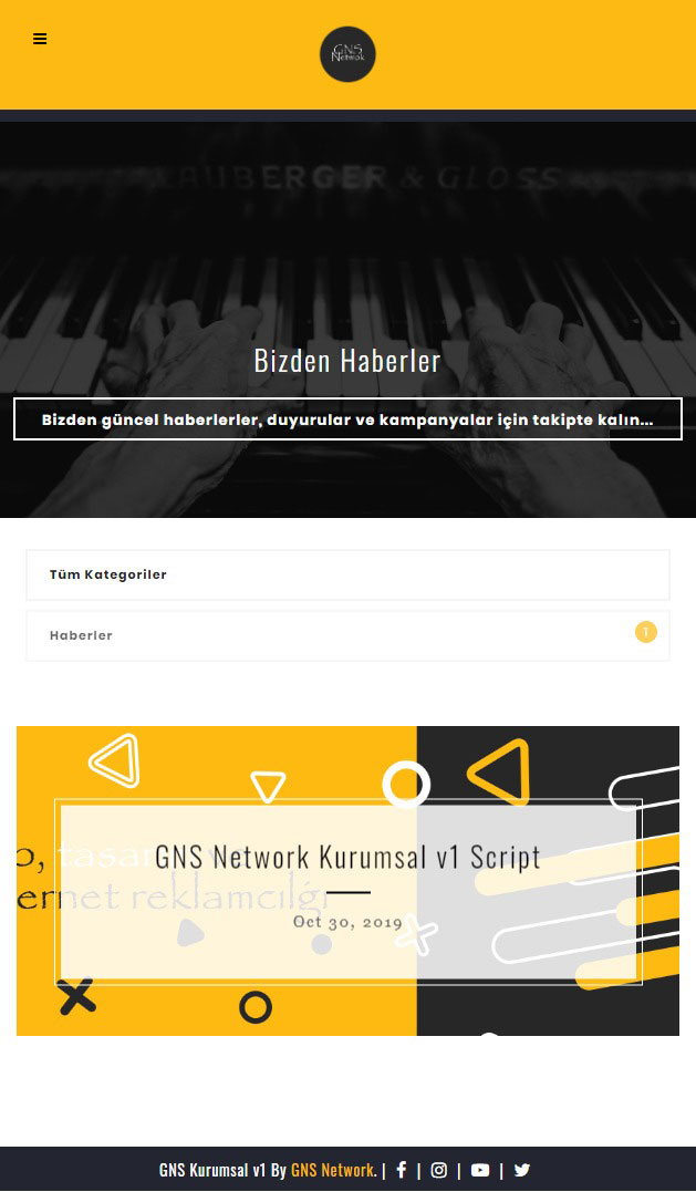 GNS Tam Sayfa Site - Kurumsal Firma Scripti Mobil Cihazlarda 4