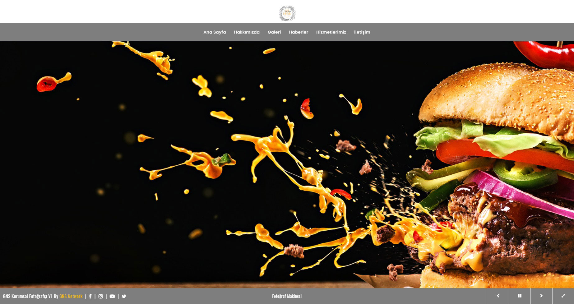 GNS Cafe & Fast Food Sitesi Yazılımı 1