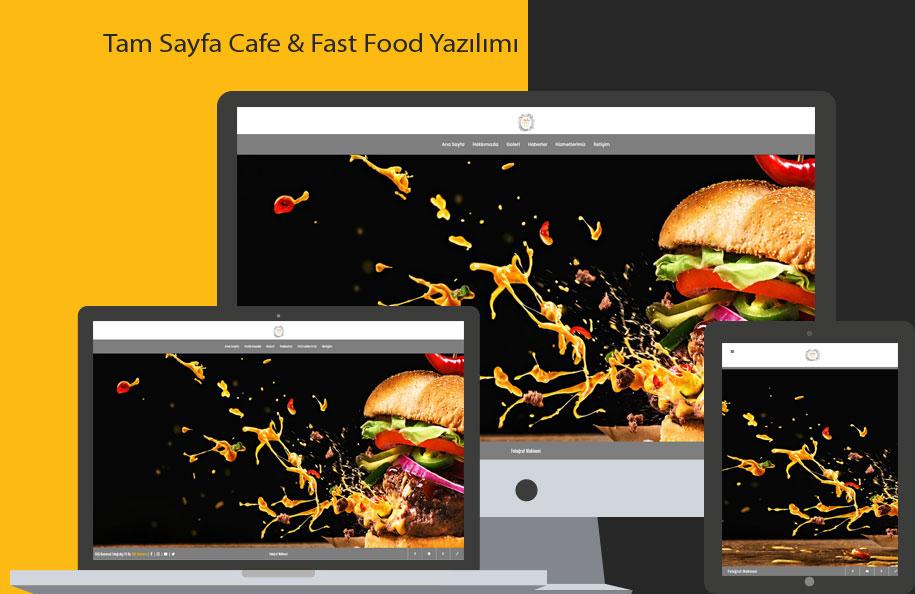 GNS Cafe & Fast Food Sitesi Yazılımı – Tam Sayfa