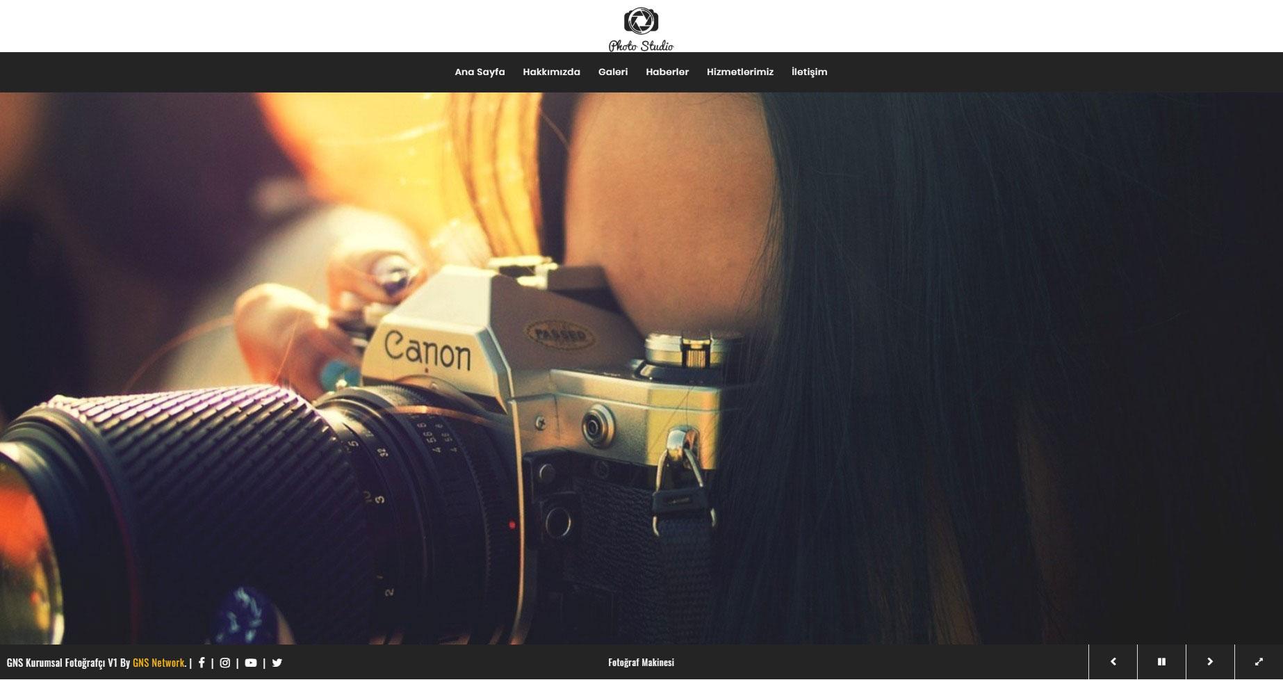 GNS Fotoğrafçı Sitesi Yazılımı 1