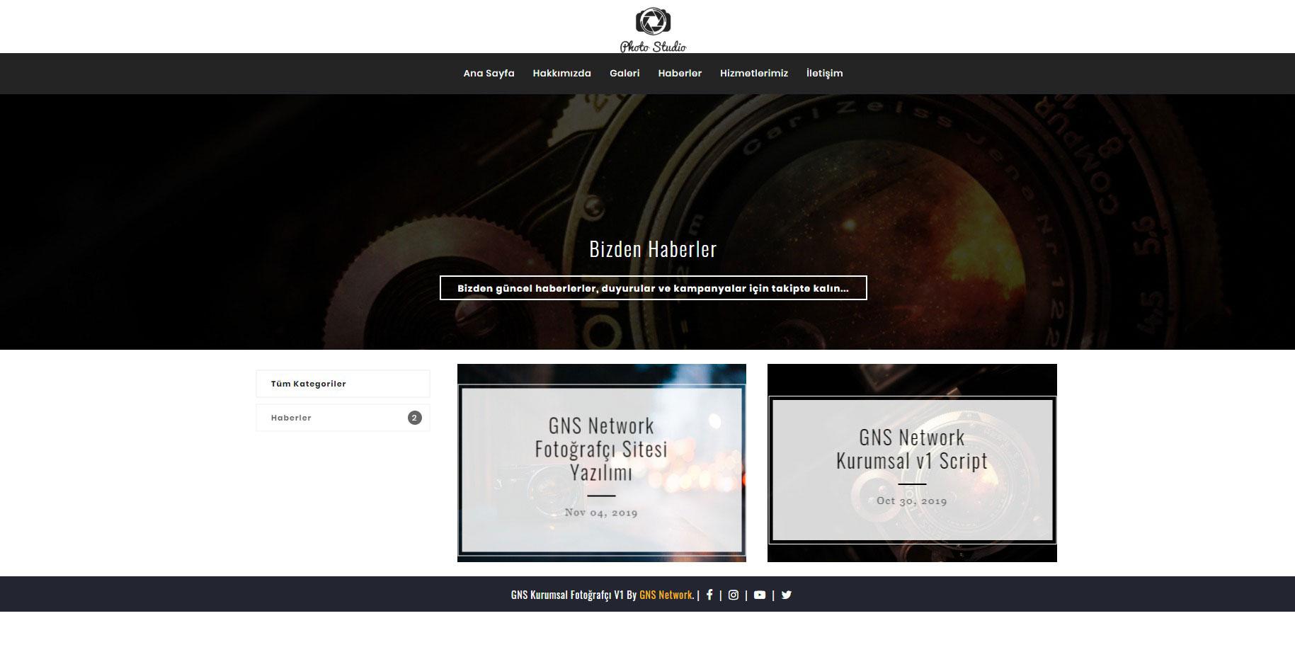 GNS Fotoğrafçı Sitesi Yazılımı 4