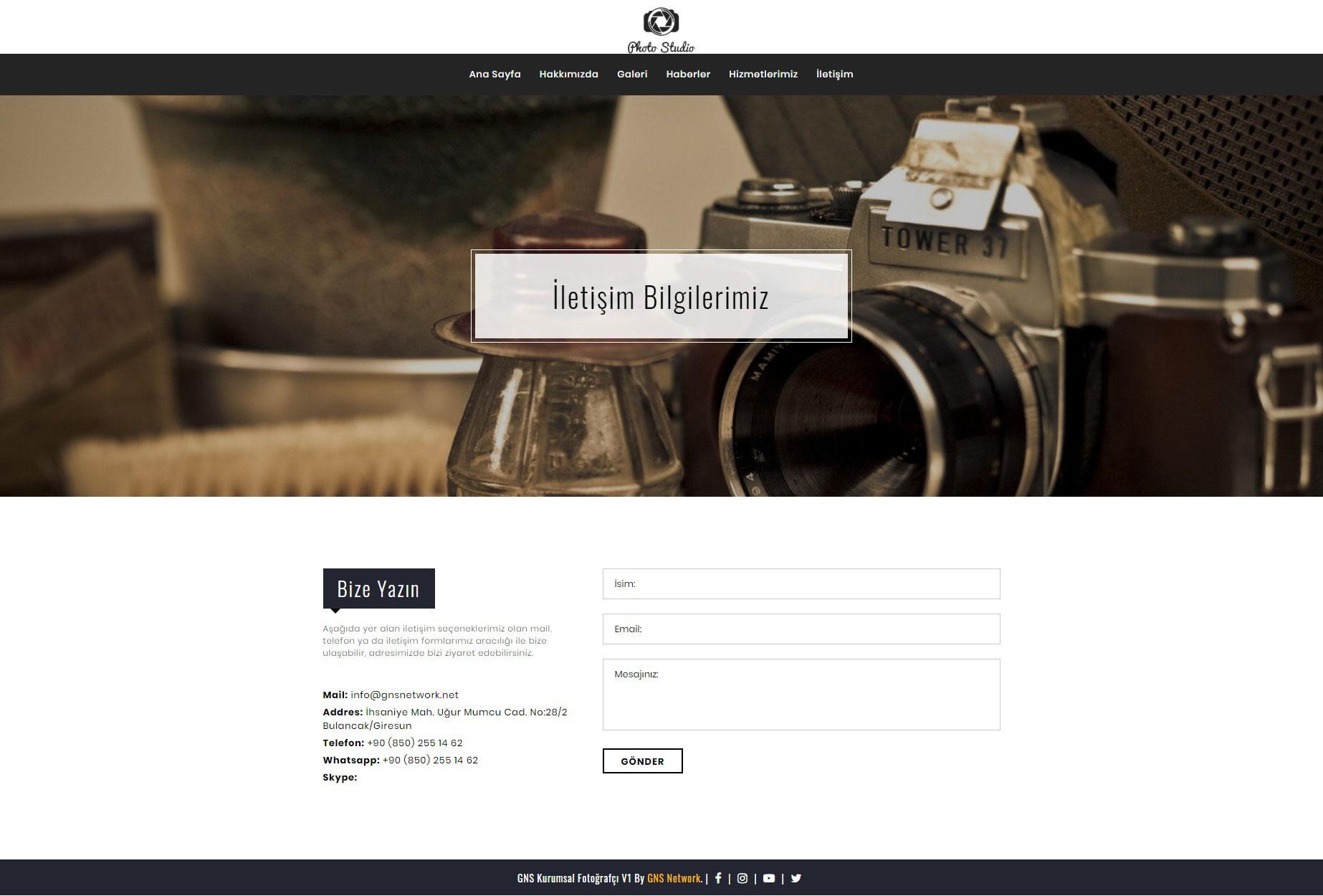GNS Fotoğrafçı Sitesi Yazılımı 6