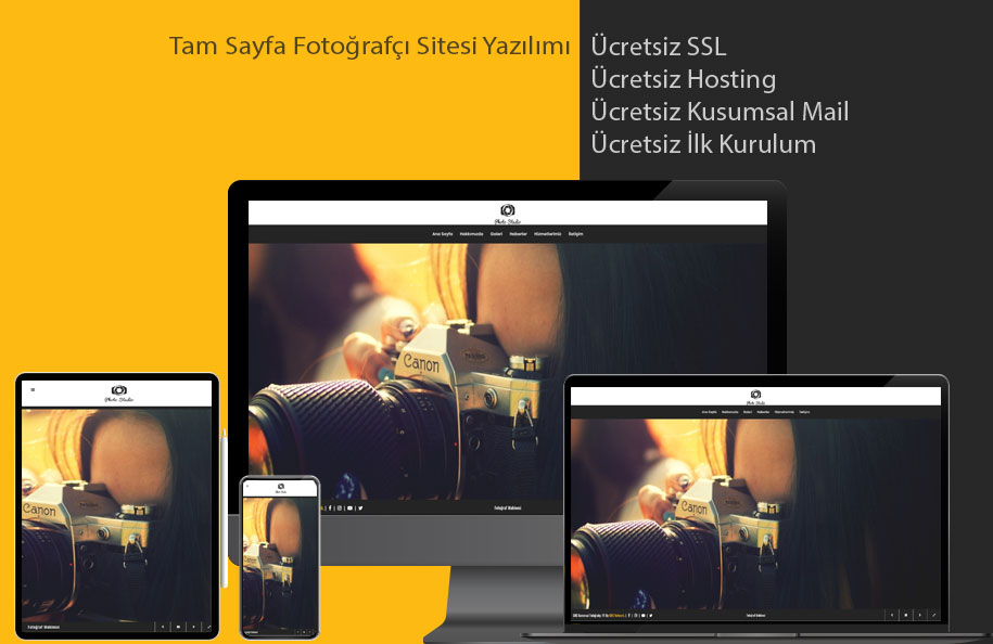 GNS Fotoğrafçı Sitesi Yazılımı - Tam Sayfa
