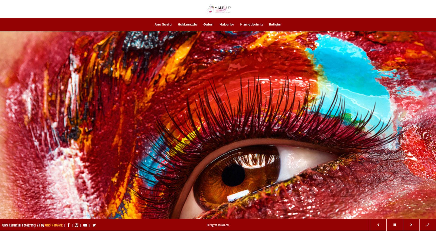 GNS Kuaför & Güzellik Merkezi Sitesi Yazılımı – Tam Sayfa 1