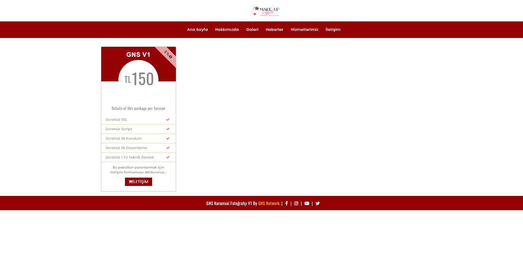 GNS Kuaför & Güzellik Merkezi Sitesi Yazılımı – Tam Sayfa 5