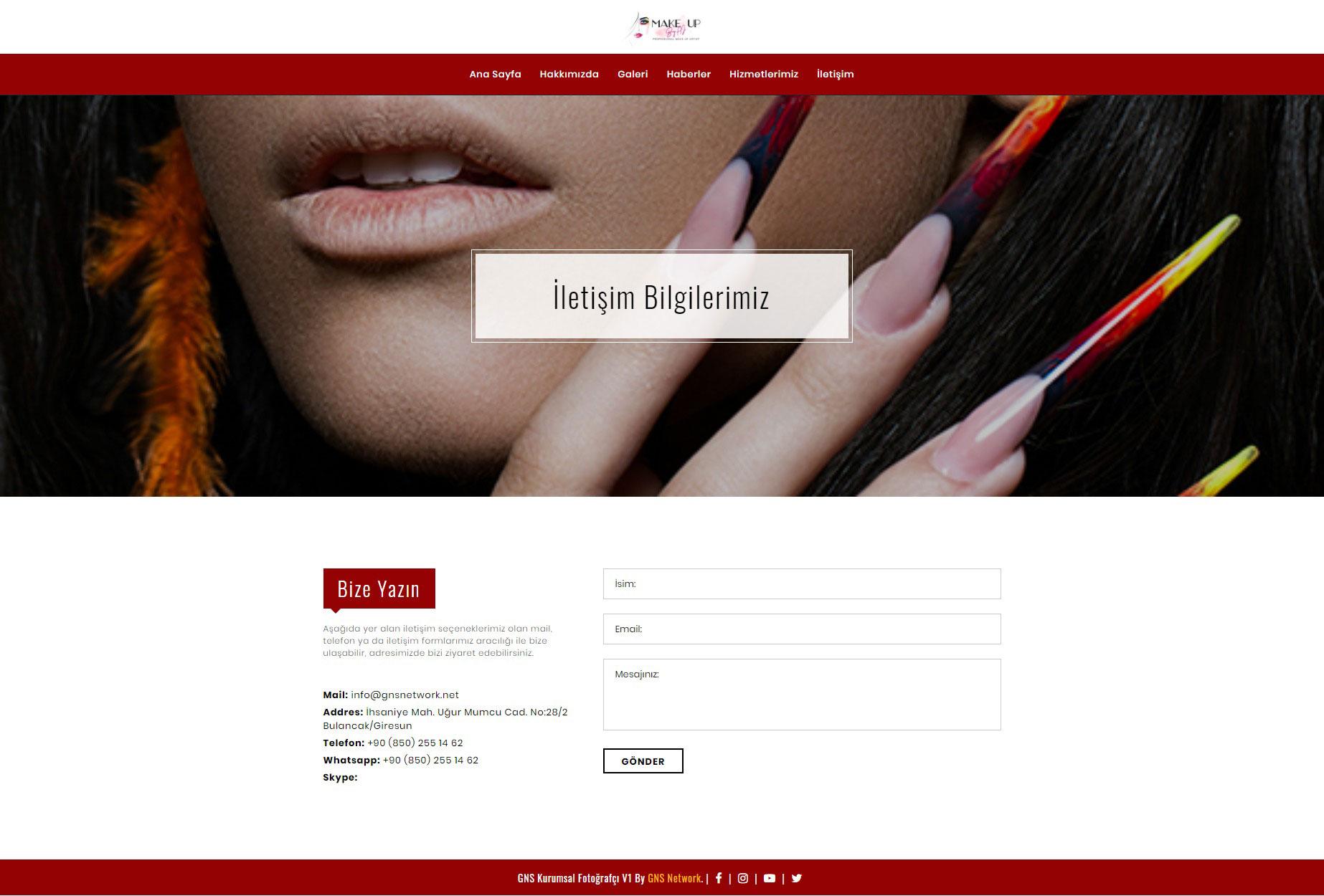 GNS Kuaför & Güzellik Merkezi Sitesi Yazılımı – Tam Sayfa 6