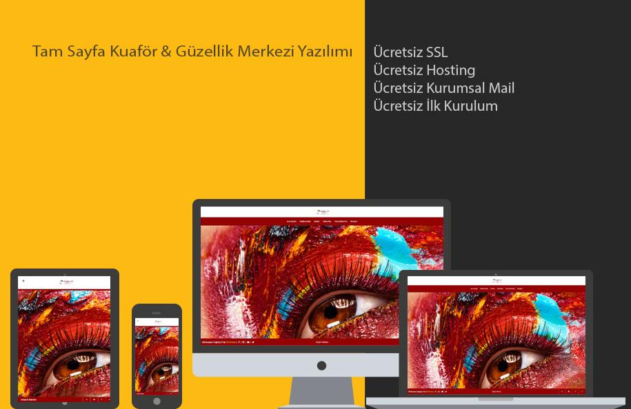 GNS Kuaför & Güzellik Merkezi Sitesi Yazılımı – Tam Sayfa