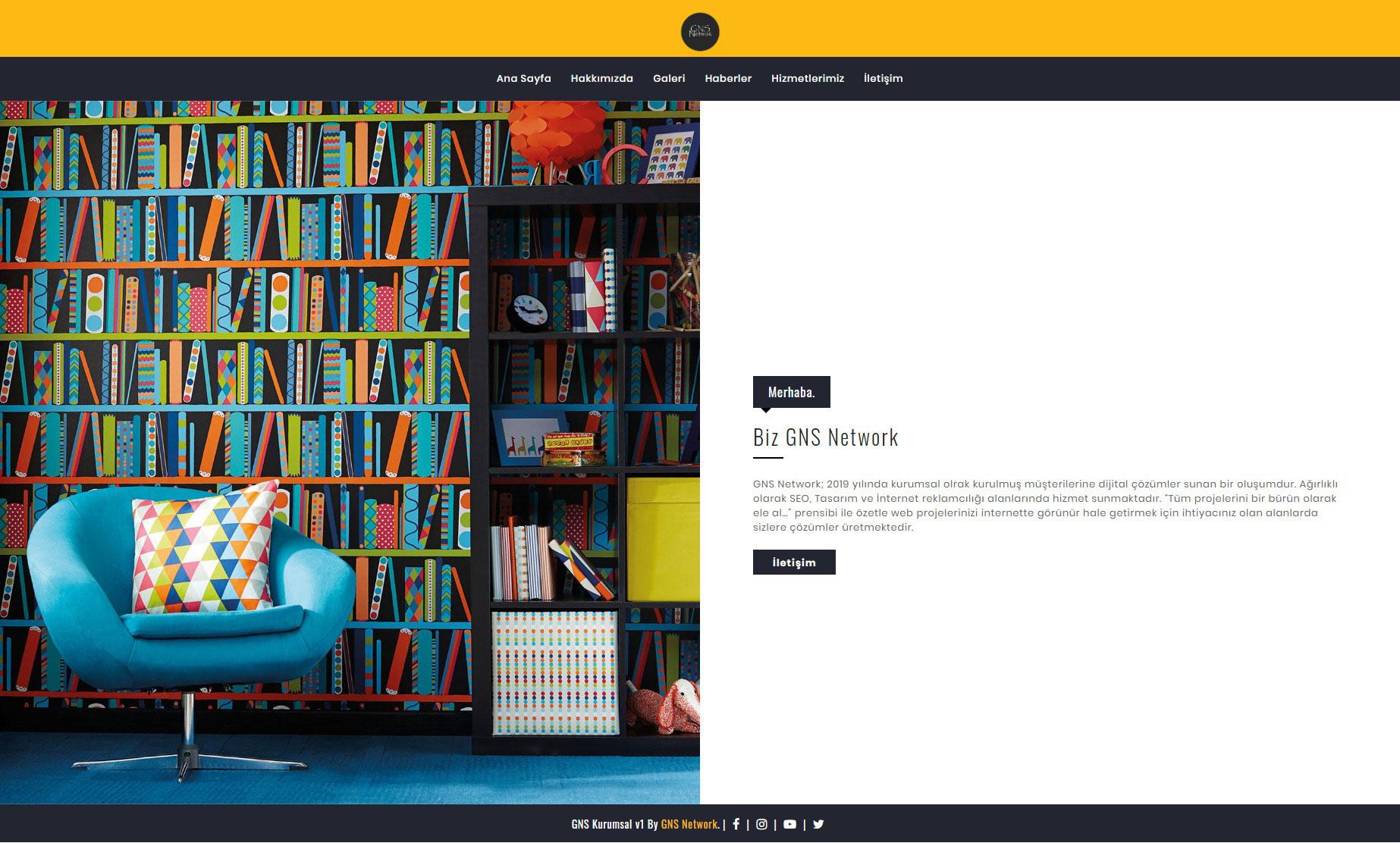 GNS Tam Sayfa Site - Kurumsal Firma Scripti Bilgisayarda 2