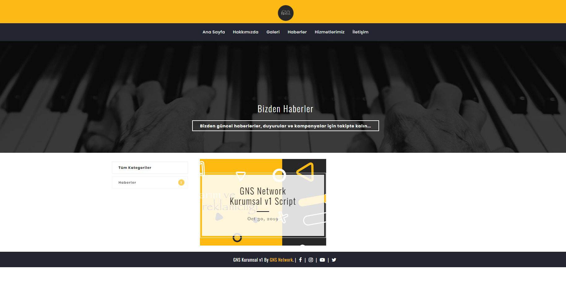 GNS Tam Sayfa Site - Kurumsal Firma Scripti Bilgisayarda 4