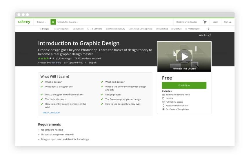 2. Udemy: Grafik Tasarıma Giriş