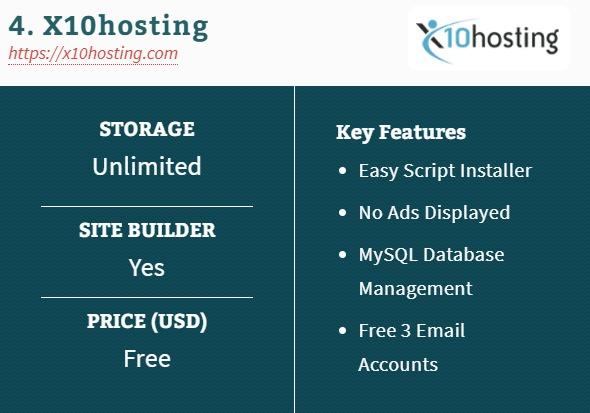 4. X10hosting