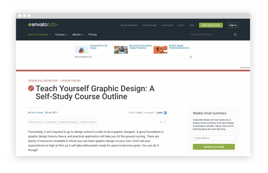 5. Teach Yourself Graphic Design: A Self-Study Course Outline