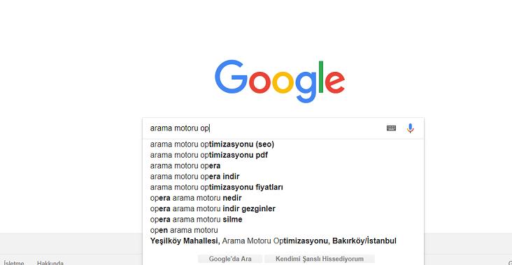 Google Otomatik Tamamlama ve İlgili Aramalar