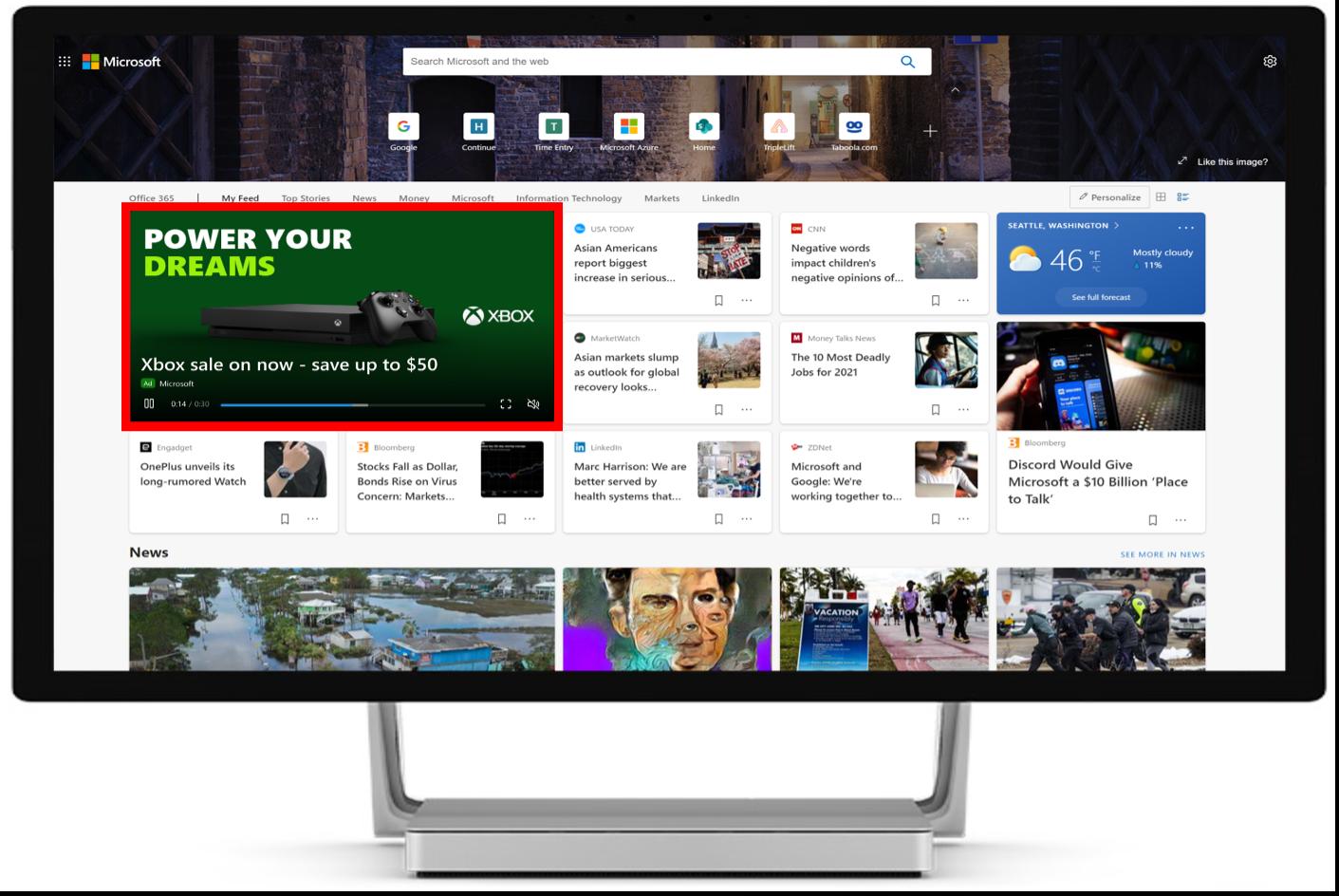 Microsoft Audience Network Video Reklamları