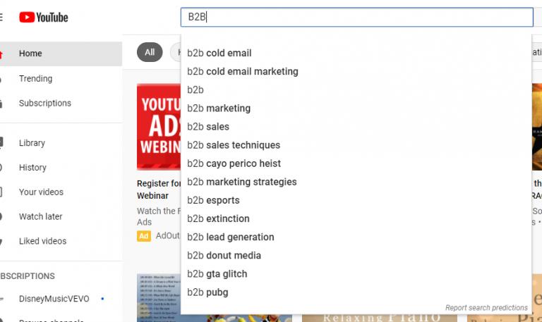 YouTube'un Otomatik Tamamlama Arama İşlevini Kullanın
