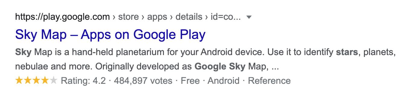 App Store Sonuçları ve Google Yıldızları